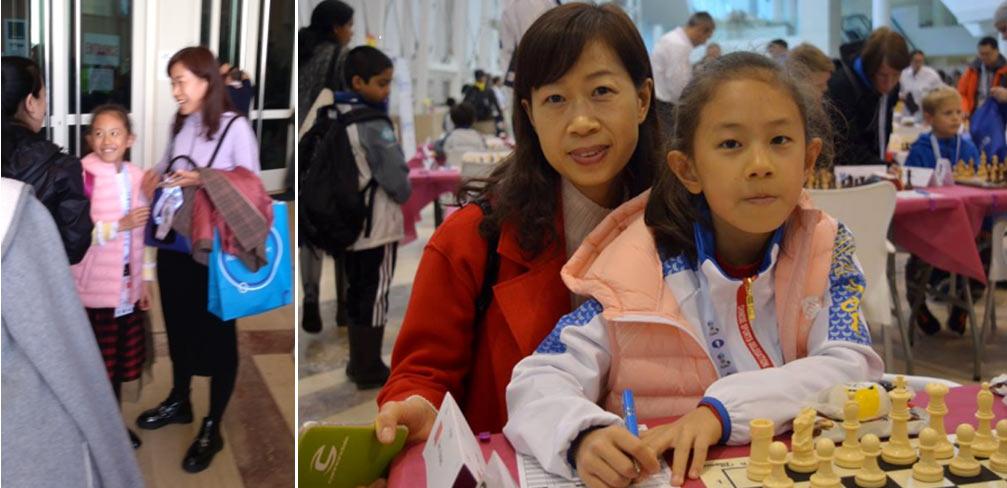 Чжао Юньцин с мамой