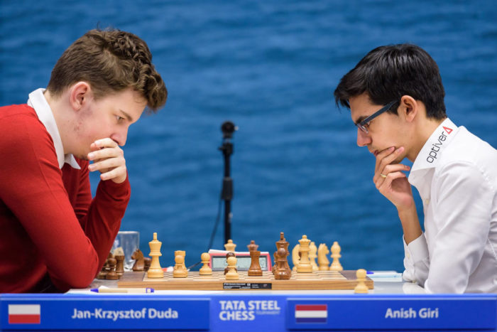 Ян-Кшиштоф Дуда и Аниш Гири. Турнир Tata Steel Chess 2019, Вейк-ан-Зее