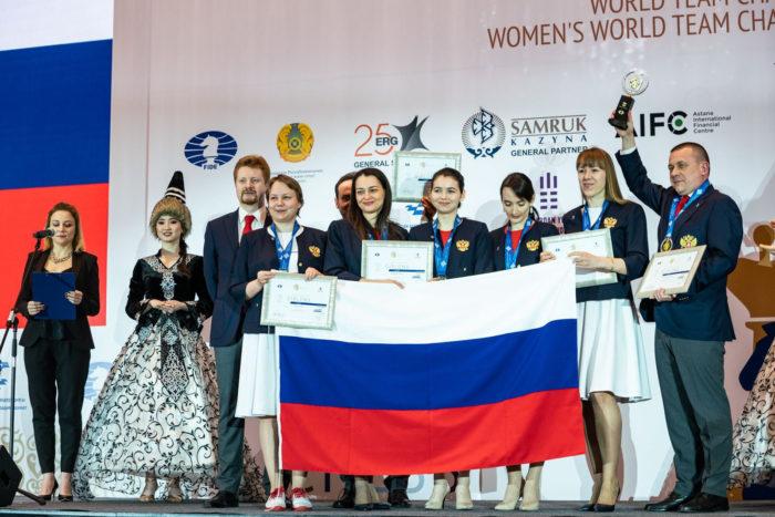 Женская команда России по шахматам 2019