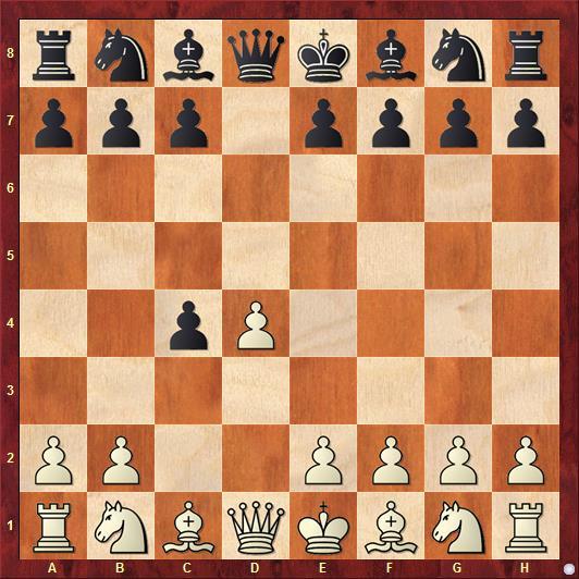 Принятый ферзевый гамбит начинается ходами: 1. d4 d5 2. c4 dxc4