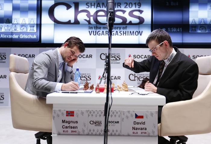 Мемориал Гашимова 2019. Тур 3. Магнус Карлсен и Давид Навара