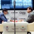 Аниш Гири и Вишванатан Ананд. Шахматный турнир Shamkir Chess 2019