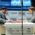 Вишванатан Ананд и Сергей Карякин. Шахматный турнир Shamkir Chess 2019