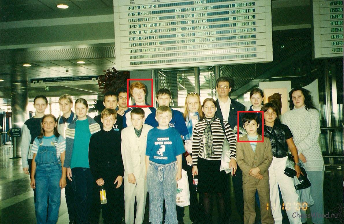 На фотографии выделены Ян Непомнящий и Владимир Поткин, который впоследствии тоже будет тренером Яна