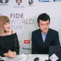 Дин Лижень рассказывает о сыгранной партии комментатору Анне Рудольф (Кубок мира по шахматам 2019, финал)