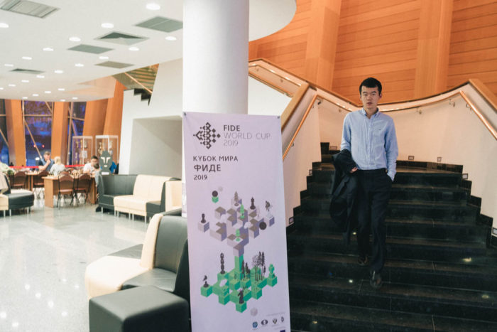 Китайский шахматист Дин Лижэнь (Кубок мира ФИДЕ 2019)