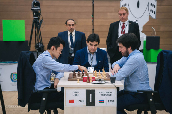 Дин Лижэнь и Теймур Раджабов (Кубок мира по шахматам 2019)