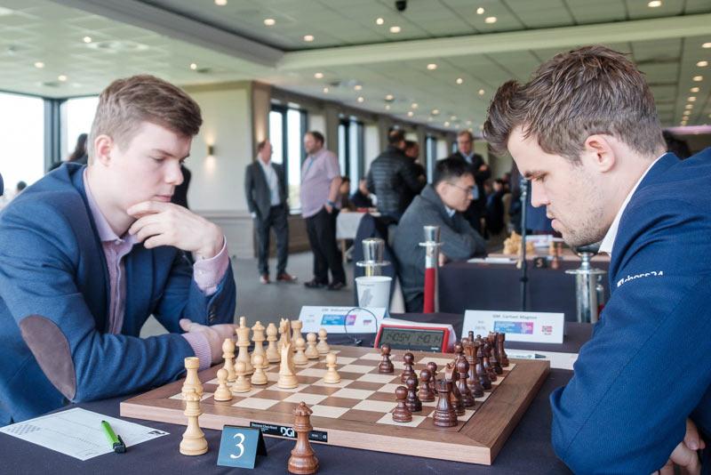 Кирилл Алексеенко и Магнус Карлсен. Шахматный турнир остров Мэн 2019