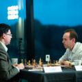 Вишванатан Ананд (Индия) и Евгений Найер (Россия). Шахматный турнир на острове Мэн