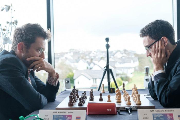 Левон Аронян и Фабиано Каруана. Шахматы остров Мэн 2019