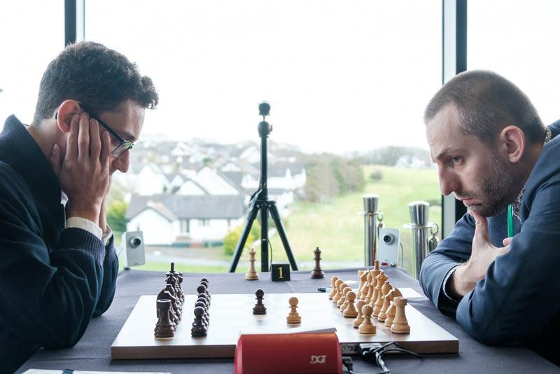 Фабиано Каруана и Александр Грищук. Шахматы остров Мэн 2019