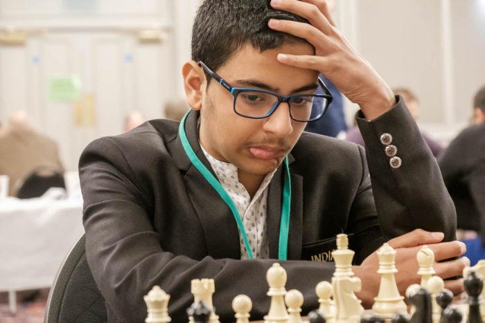 Индийский шахматист Раунак Садхвани (остров Мэн 2019)