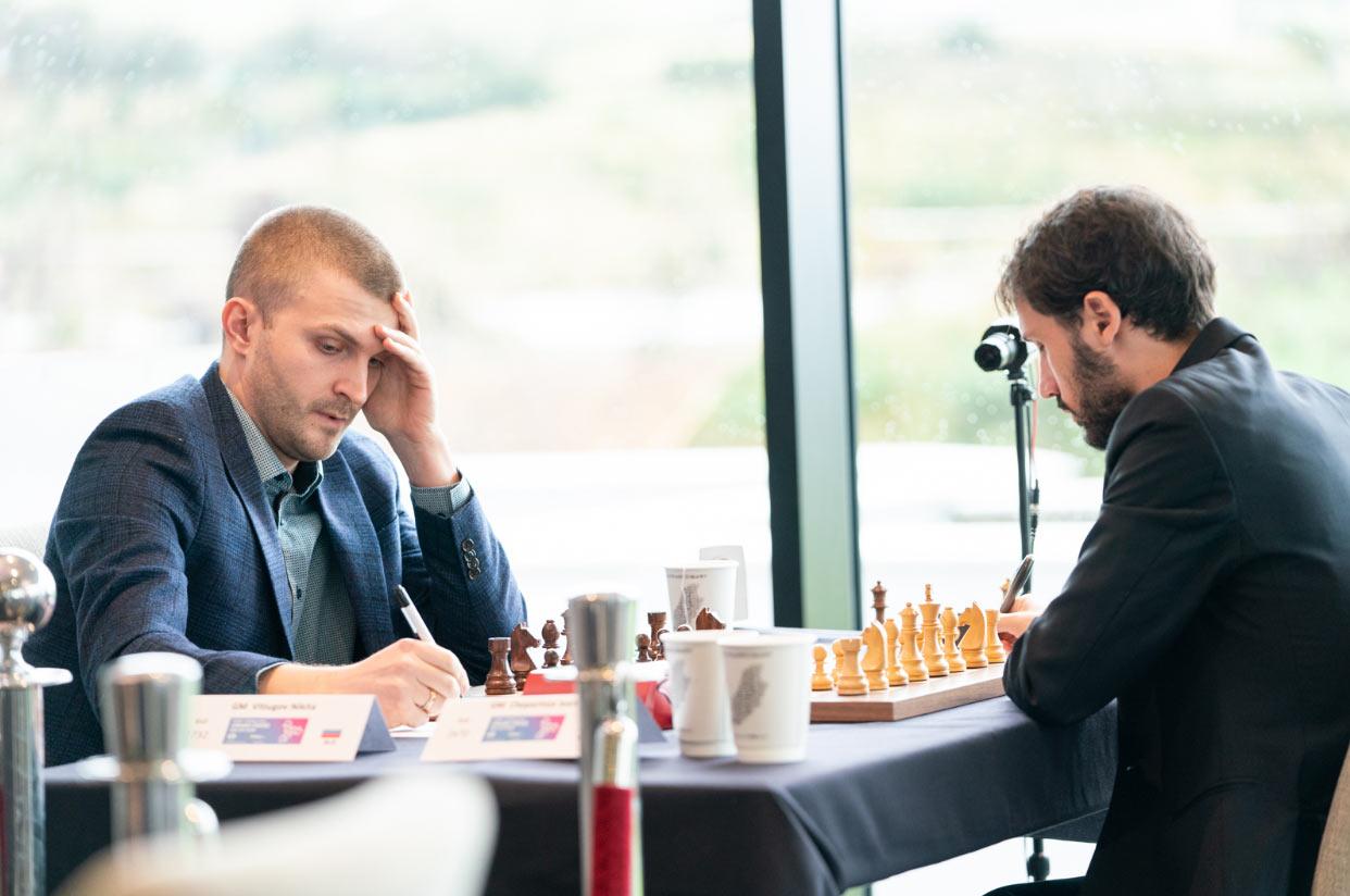 Никита Витюгов и Иван Чепоринов. Турнир остров Мэн 2019 (шахматы)