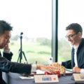 Ван Хао (Китай) и Фабиано Каруано (США). Шахматный турнир на острове Мэн 2019
