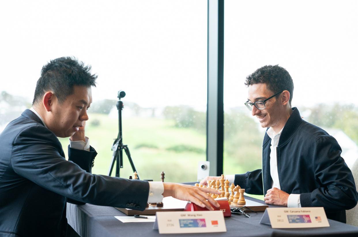 Ван Хао (Китай) и Фабиано Каруана (США). Шахматный турнир на острове Мэн 2019