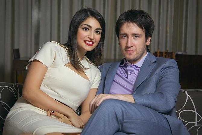Шахматист Теймур Раджабов с женой Эльнарой