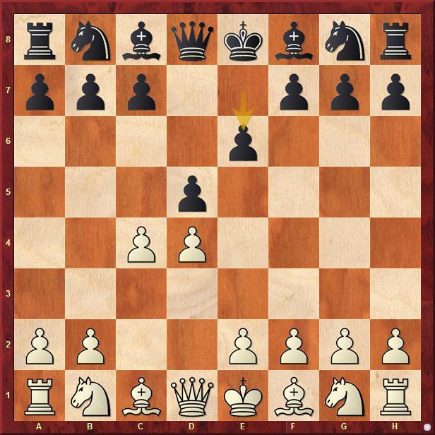 Отказанный ферзевый гамбит начинается ходами 1.d4 d5 2.c4 е6