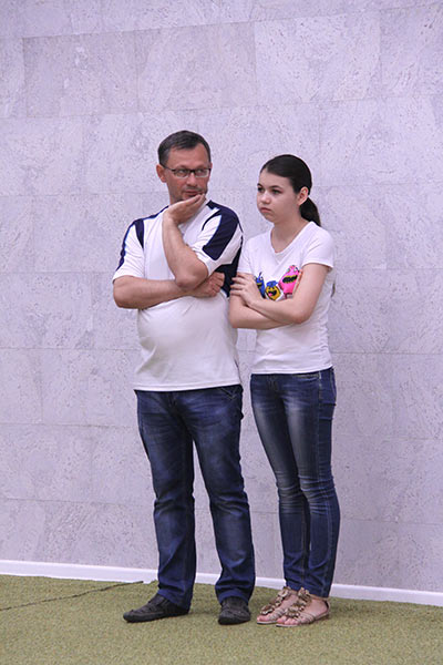 Александра Горячкина с отцом Юрием
