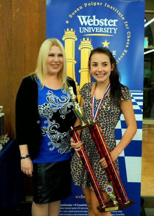 Восьмая чемпионка мира по шахматам Сьюзен (Жужа) Полгар и Андреа Ботез