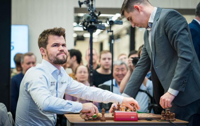 Реакция Карлсена на первое и возможно последнее поражение на чемпионате мира по рапиду и блицу 2019