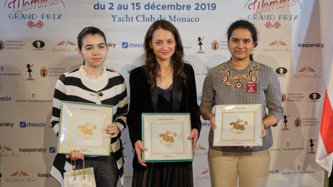 Победительницы шахматного турнира Гран-При в Монако 2019