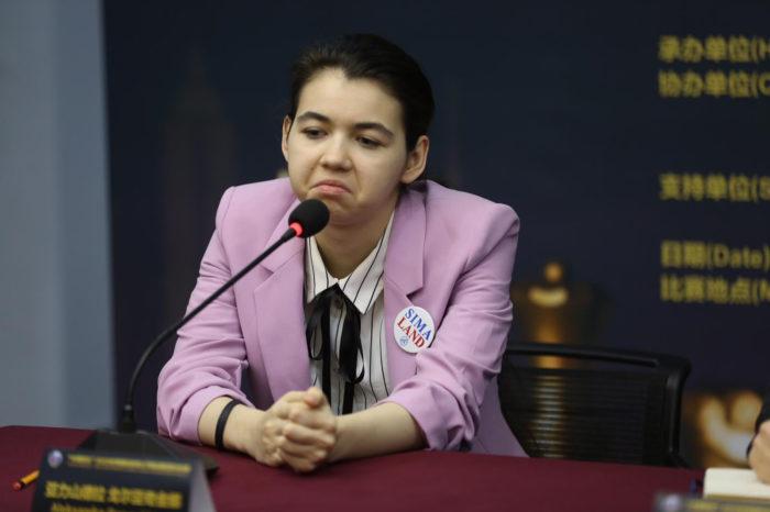 После игры Горячкина сказала, что она потеряла нить игры, но не могла точно определить, где именно