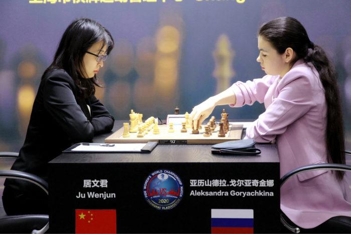 Цзюй Вэньцзюнь (Ju Wenjun) и Александра Горячкина (Шанхай, 2020)