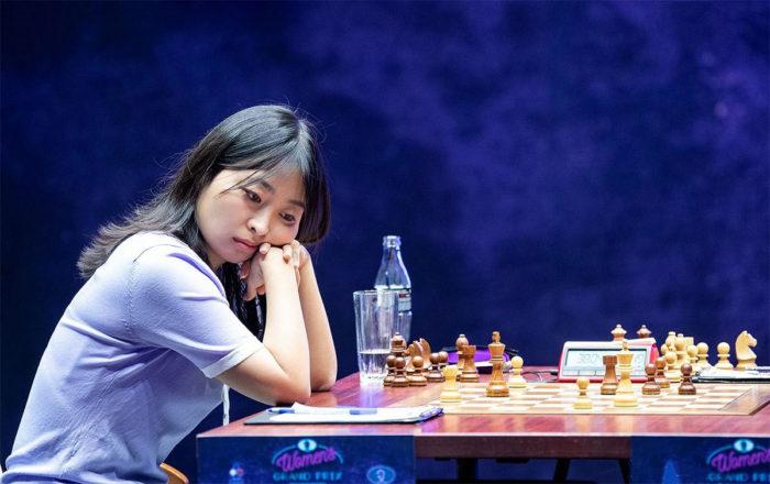 Цзюй Вэньцзюнь на турнире Гран-При среди женщин в Сколково 2019