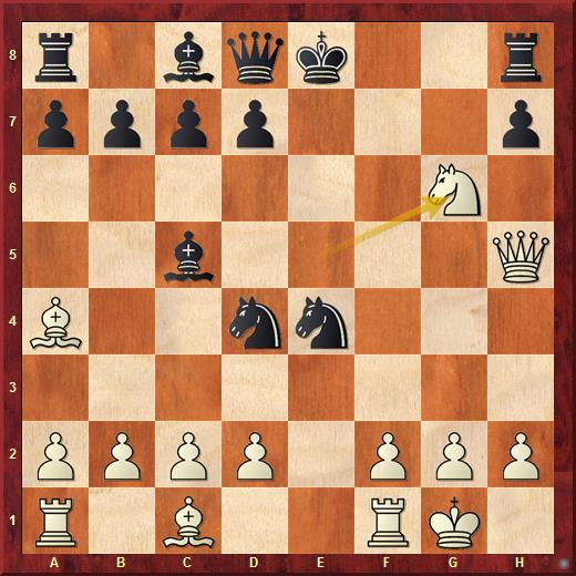 Позиция из партии Карпов - Цейтлин (1971). Пешка h7 связана. Черные могут забрать пешкой коня на g6, но тогда потеряют ладью - это пример относительной связки