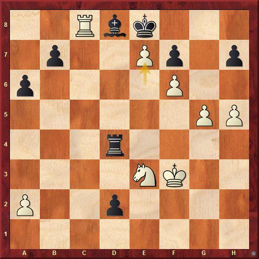 Позиция из блиц-партии Каспаров - Вашье-Лаграв (2011). Слон чёрных закрывает короля и не может двинуться с места - это полная абсолютная связка