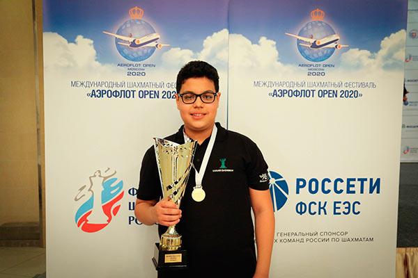 Шахматист Айдын Сулейманлы - победитель Аэрофлот-опен 2020