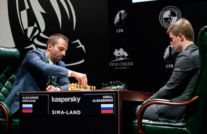 Турнир претендентов по шахматам 2020. Александр Грищук и Кирилл Алексеенко
