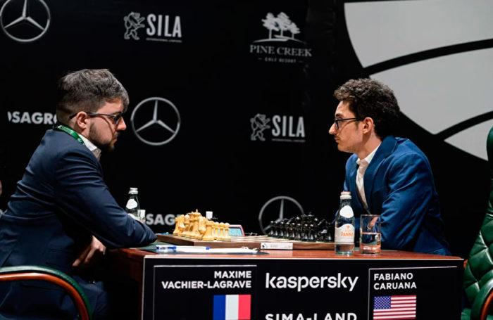 Турнир претендентов по шахматам 2020. Тур 1. Максим Вашье-Лаграв и Фабиано Каруана
