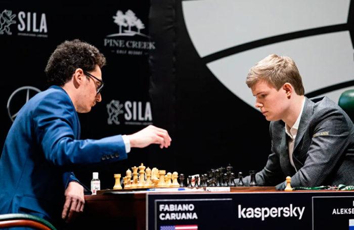 Фабиано Каруана и Кирилл Алексеенко. Турнир претендентов 2020 (Екатеринбург)