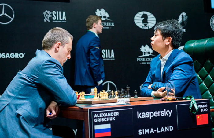 Александр Грищук и Ван Хао. Турнир претендентов по шахматам 2020 (Екатеринбург)