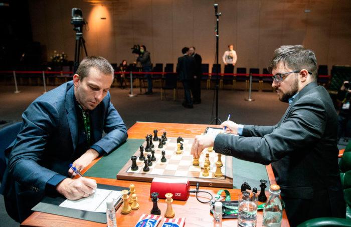 Александр Грищук и Максим Вашье-Лаграв. Турнир претендентов 2020