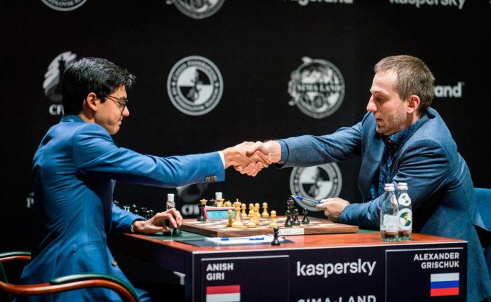 Очередная ничья Грищука на турнире претендентов 2020. Хочется увидеть и победы российского гроссмейстера