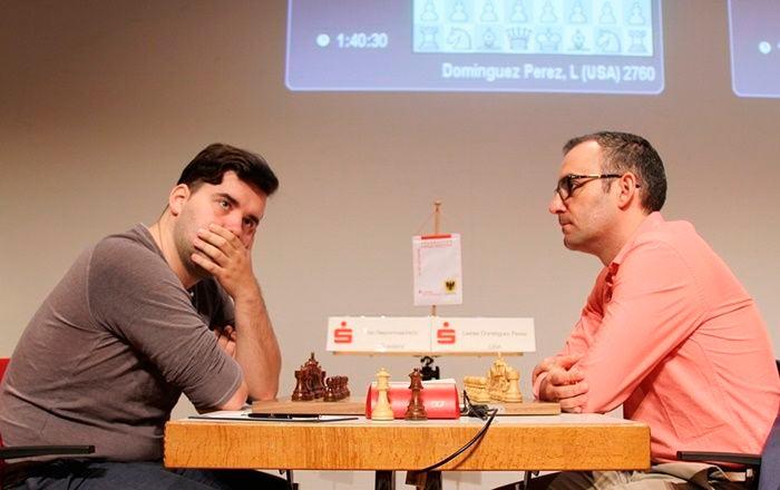 На турнире Dortmund Sparkassen Chess Meeting 2019 в личной встрече Домингес победил Непомнящего (Дордмунд, 2019)
