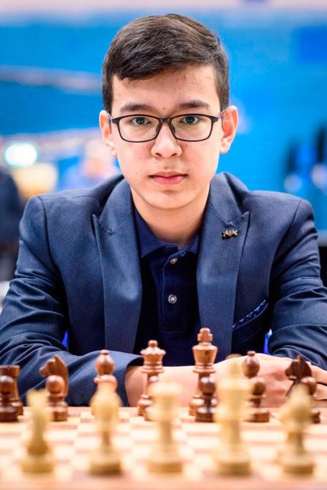 Нодирбек Абдусатторов на турнире Tata Steel Challengers 2020