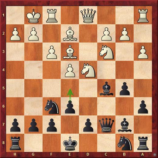 Белые допустили ошибку и останутся без фигуры после хода 10...e5: 11. Nf5 g6