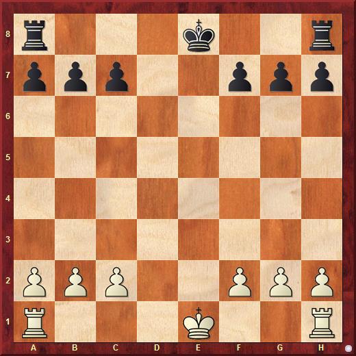 Рокировка в шахматах. Ни один из королей ещё не рокировался