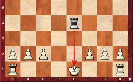 Рокировка при шахе в шахматах невозможна