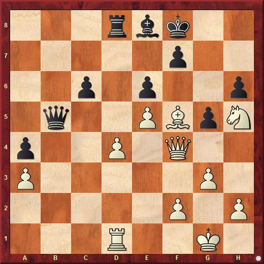 У былых выигранная позиция. Гири сделал ход Qf3 за 8 секунд - ход не в ту степь. Сильнейший ответ - Qc1