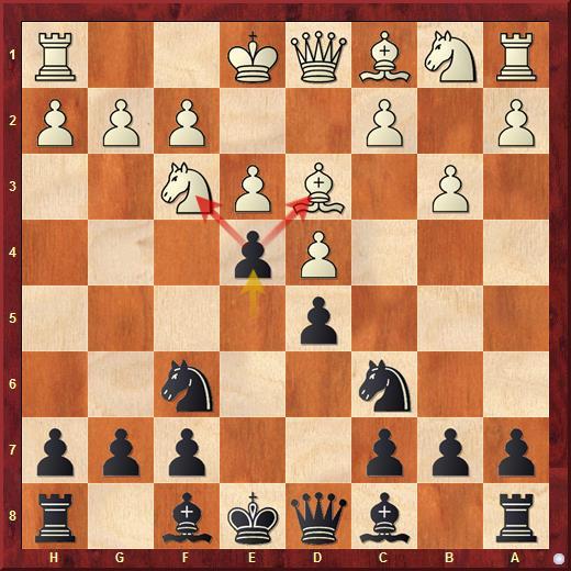 Двойной удар пешкой (вилка) в шахматах