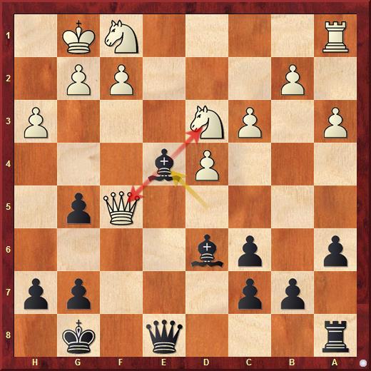 Двойной удар конём в шахматах