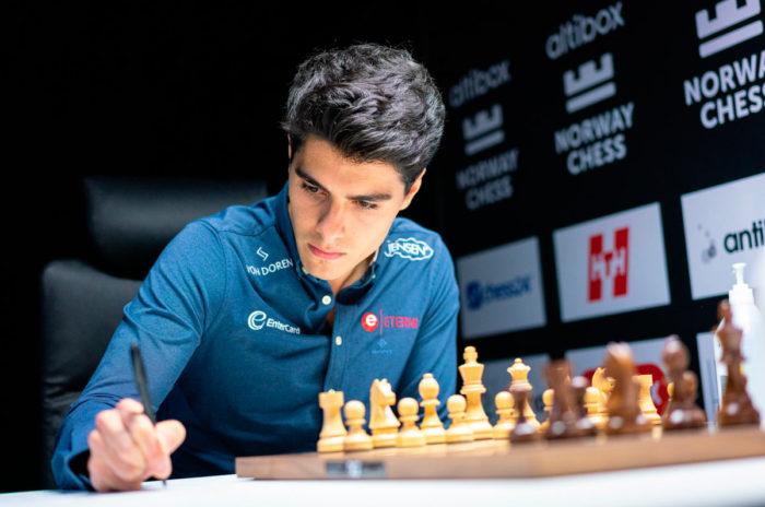 Шахматист Арьян Тари (Ставангер 2020)