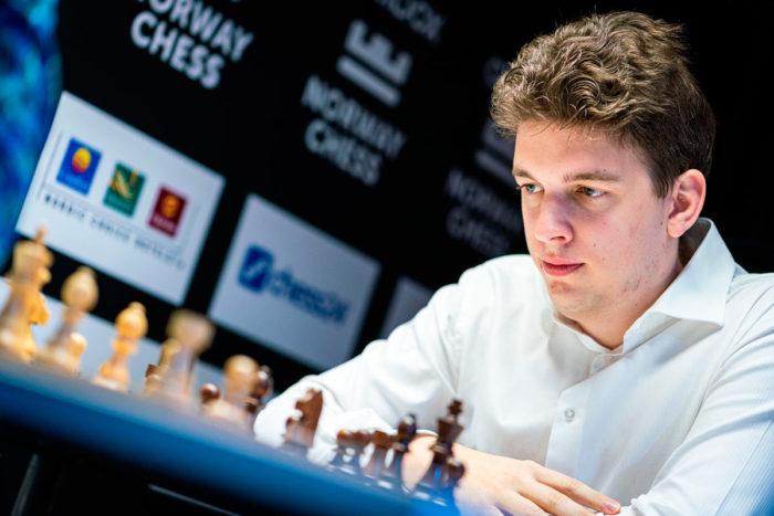 Шахматист Ян-Кшиштов Дуда (Ставангер, 2020)
