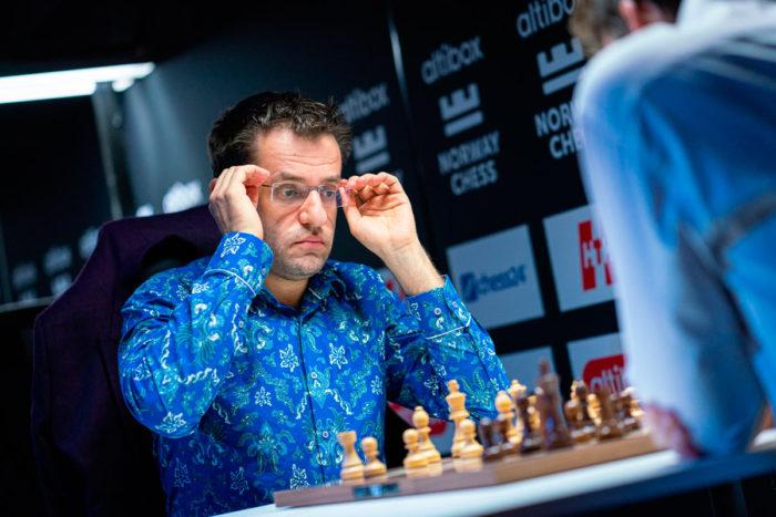 Шахматист Левон Аронян на турнире в Ставангере 2020