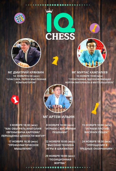 Шахматы. Вебинары с участием гроссмейстеров (ноябрь 2020)