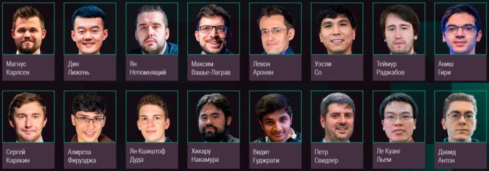 Список участников шахматного турнира Skilling Open 2020